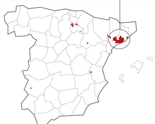 Cava tuotantoalueet Katalonia